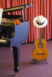 Klavier und Gitarre - beide Instrumente souverän beherrscht von Hans Jürgen Steffenhagen